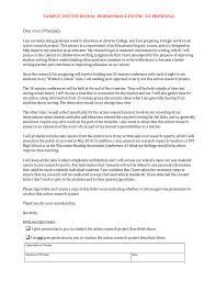 Permission Letter Sample Sample Institutional Permission Letter To Principal Dear