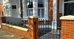 Small Picture front garden wall and mosaic tiled pavement fence walls