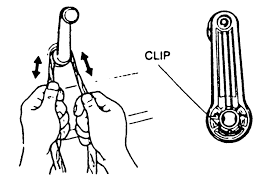 fig 1 a rag can be used to disengage the window crank handle retaining clip