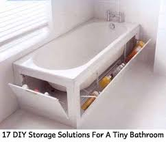 diy bathroom storage. 17 DIY Storage Solutions For A Tiny Bathroom. Photo Credit: Homeglad Diy Bathroom