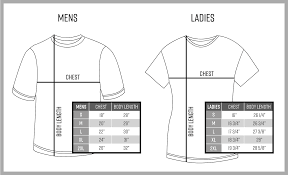 Rush Order Tees Size Chart Pacific Printing Print Services