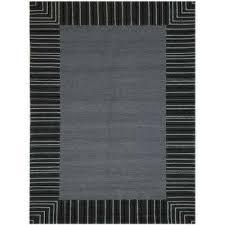 pizazz gray striped border 8 ft x 10 ft indoor outdoor area rug