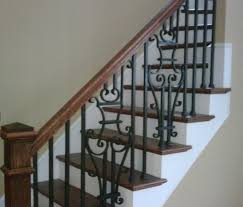 ... outdoor wrought iron stair railing ...