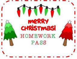FREE Christmas Holiday Homework Pass  Pinterest