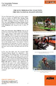 2018 ktm contingency. contemporary ktm pr the ktm thor racing team wins the mx1 national season opener  direct  motocross canada in 2018 ktm contingency