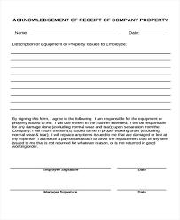 Employee Acknowledgement Form Template Acknowledgement Receipt Template Jimbutt Info