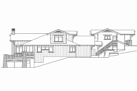 sloping lot house plans minimalist uphill slope house plans plan ms modern house plan for a