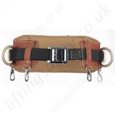 miller 525 heavy duty leather work positioning belt for use with pole strap restraint lanyard