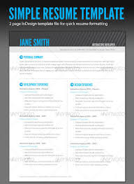 Gallery Of Adobe Indesign Resume Template Indesign Resume Template
