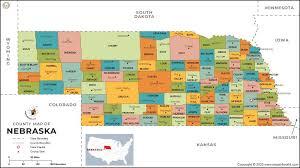 nebraska county map nebraska counties