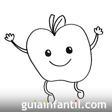 Manzanas Para Colorear Imagen De Una Manzana Dibujos Para Colorear Con Niños