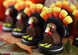 thanksgiving themed desserts. Brilliant Thanksgiving Our Best Bites Uses Them For Namecard Holders As They Set Their  Thanksgiving Table Genius Get The Recipe Oreo Turkey Via With Themed Desserts