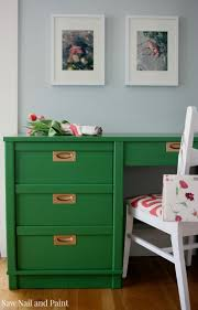 painted furniture colors. desk painted in benjamin moore clover green furniture colors n