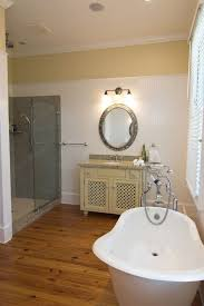 bathroom with pvc wall paneling