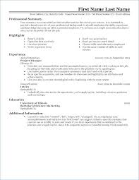 Example Of Resume Template Simple Resume Template Download Or Cover ...