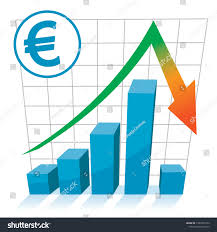 Euro Value Chart Euro Currency Value Drop Chart Graph Stock Vector Royalty