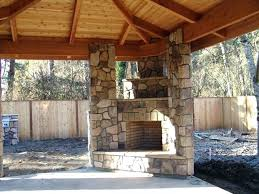 outdoor corner fireplace outside creative backyards seating backyard deck with classic designed brick pizza oven