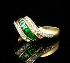 Colombian Ring Size Chart Cei Signed Fine Natural 1 20ctw Colombian Emerald Diamond 14k Gold Amoro Ring