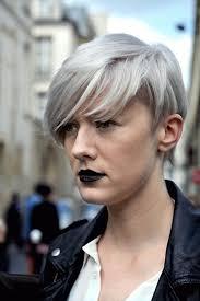 Coiffure Femme Courte Cheveux Gris