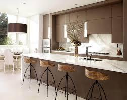 good modern white kitchen island ideas with wooden bar stools