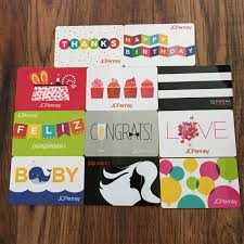 11 jcpenney gift cards collectible new no value
