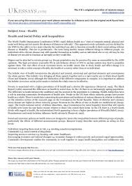 health essays class health inequalities