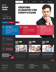 Political Website Templates Website Template Roger Clark American Politician Political