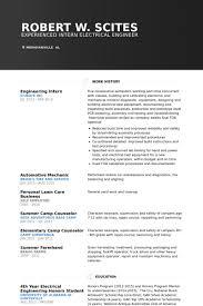 Engineering Intern Resume samples