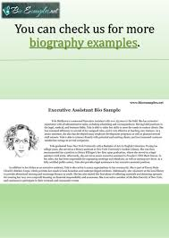 best biography examples for your career 11 personal biography