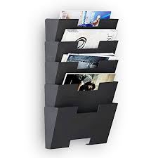 newspaper rack for office. Hanging Wall File Folder Steel Magazine Newspaper Rack Holder Cascading Organizer 5 Pack Black ~ Holders Olivia Decor - For Your Home Office