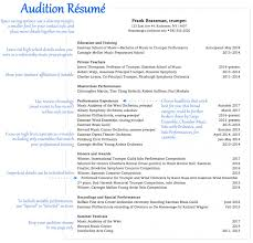 Wwwresume Templates Impressive Performance Resume Music Sample Imposing Templates Format Dance