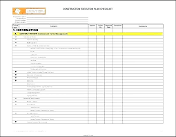 Excel Project Templates Checklist Template Spreadsheet For ...