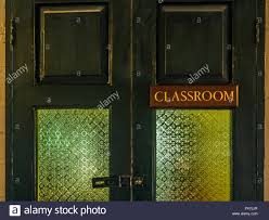 classroom door. Classroom Door, Vintage, Old Style, Sign Door