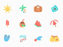 Summer Icons 12 Summer Icons Sketch Freebie Download Free Resource For