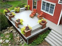 deck planter boxes planters railing box plans bench cozy modern red house vintage chair build flower x52