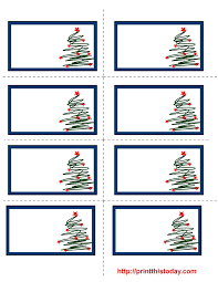 Christmas Tag Template 7 Best Images Of Free Printable Labels Templates Gift Tag And