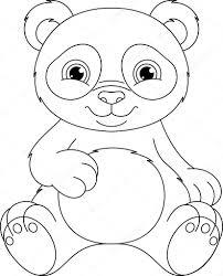 Panda Kleurplaat Stockvector Malyaka 78422914