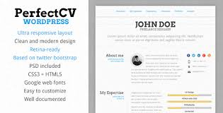 PerfectCV - Responsive Resume WordPress Theme