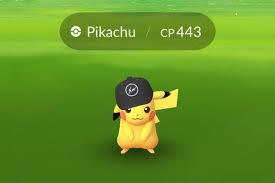 Pikachu Wears fragment design Hat In New Pokemon Go Update