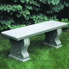 campania international provencal cast stone backless garden bench hayneedle