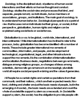 critically discuss the sociological perspective in terms of the    essay on critically discuss the sociological perspective in terms of the implications of globalization  human