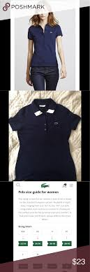 Lacoste Polo Womens Size Chart Lacoste Womens Polo Shirt Slim Fit Size 38 S M Lacoste