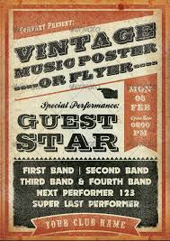 Concert Flyer Templates Free Vintage Concert Poster Template Free