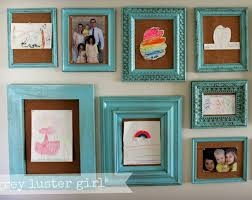 ways to display kids art corkboard frames
