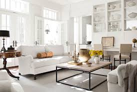gray room with white furniture photo - 1