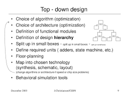 Top Down Design Definition Ic Design Methodology And Design Styles Ppt Download