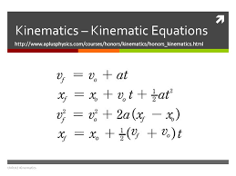 kinematic equations and graphs the physics classroom