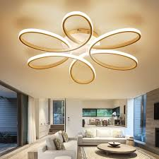 semi flush mount ceiling lights. Modern Ceiling Light Simple Floral Shape LED Semi Flush Mount With Max 75W Painted Lights