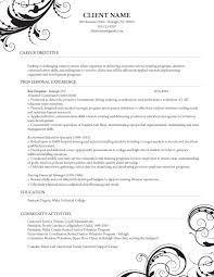 Caregiver Professional Resume Templates Healthcare