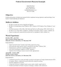 Federal Government Resume Format Gorgeous Government Resume Format Contractor Employee Job Examples Government